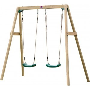 Wooden Double Swing - Plum