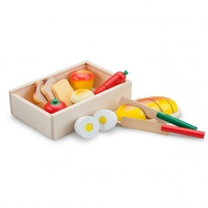 Wooden Breakfast Cutting Set in a Box - New Classic Toys (0580)