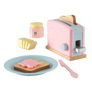 Wooden Pastel Toaster Set - Kidkraft (63374)