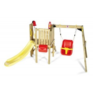 Wooden Toddler Climbing with swing and slide - Plum (7092133)