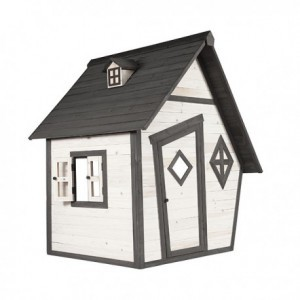 Wooden Playhouse Cabin (gray / white) - Sunny (C050.003.00)