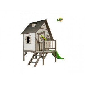 Wooden Playhouse Cabin XL (gray / white) - Sunny (C050.004.00)