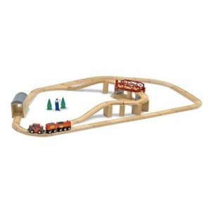 Wooden Swivel Bridge Train Set - Melissa & Doug (10704)