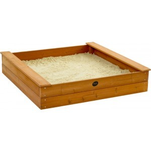 Wooden square sandbox - Plum (7092061)