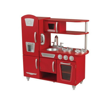 Wooden Vintage Play Kitchen (Red) - Kidkraft (53173)