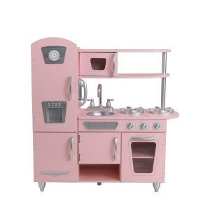 Wooden Vintage Play Kitchen (Pink) - Kidkraft (53179)