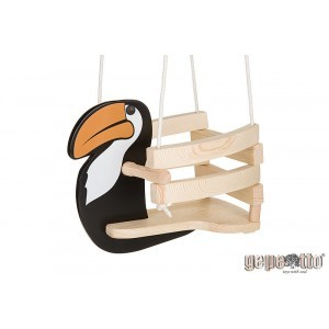 Wooden Baby Swing Toucan - Gepetto HT00