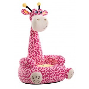 Plush Giraffe Sofa Sitting Chair (Pink) - Liberty House Toys (HT70042)