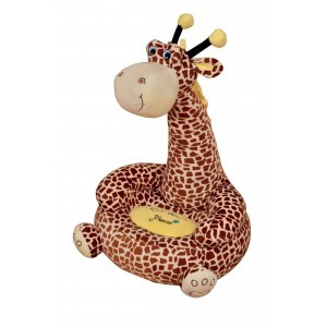 Plush Giraffe Sofa Sitting Chair (Brown) - Liberty House Toys (HT70043)