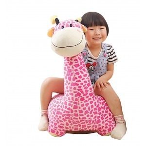 Plush Giraffe Sofa Riding Chair (Pink) - Liberty House Toys (HT70108)