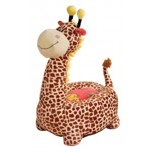 Plush Giraffe Sofa Riding Chair (Brown) - Liberty House Toys (HT70109)
