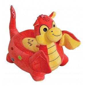 Plush Dragon Sofa Riding Chair (Pink) - Liberty House Toys (HT70112)