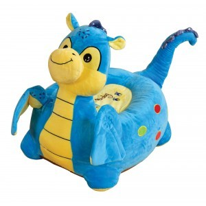 Plush Dragon Sofa Riding Chair (Blue) - Liberty House Toys (HT70113)