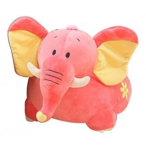 Plush Elephant Sofa Riding Chair (Pink) - Liberty House Toys (HT70115)