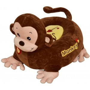 Plush Monkey Sofa Riding Chair (Brown) - Liberty House Toys (HT70156)