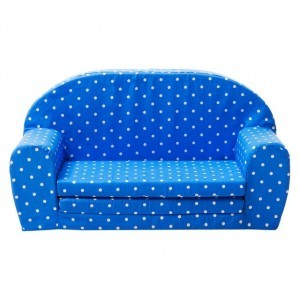Gepetto fold out mini sofa blue with white dots 05.07.04.02