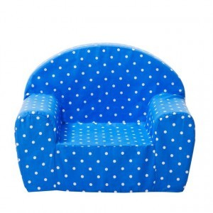 Gepetto Childrens' Armchair - Blue with White Dots 05.07.06.00-b