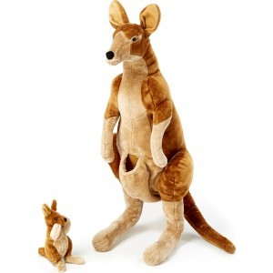 Large plush kangaroo's Marloo with baby Hip-Hop - Melissa & Doug (18834)