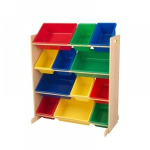 Sort It & Store It Bin Unit (Primary & Natural) - Kidkraft (16774)