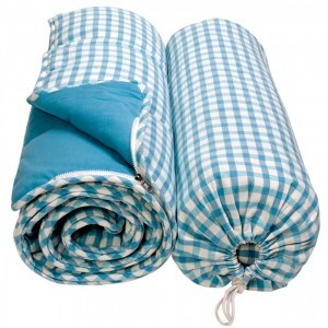 Cotton Gingham sleeping bag (Sky blue) - Win Green (WGSLBL)