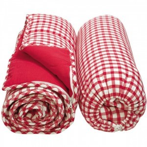 Cotton Gingham sleeping bag (Cherry Red) - Win Green (WGSLRD)