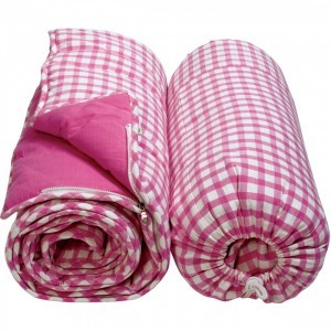 Cotton Gingham sleeping bag (Candy Pink) - Win Green (WGSLPK)