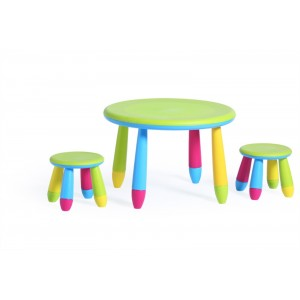 Children Table and Chairs Set Emil Bright