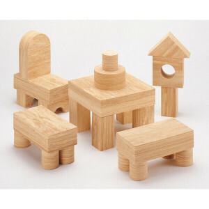 Soft Wood Building Blocks 152 Pcs.