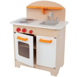 Wooden kitchen white - Hape