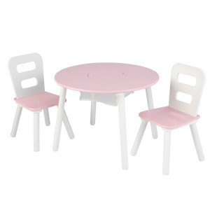 Children's furniture set with Table & 2 Chairs (Pink) - Kidkraft (26165)