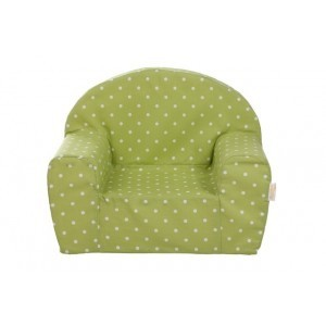 Gepetto Childrens' Armchair -  Lime Green with White Dots 05.07.06.00-gr