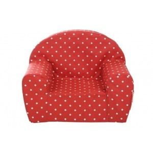 Gepetto Childrens' Armchair - Red with White Dots 05.07.06.00-r