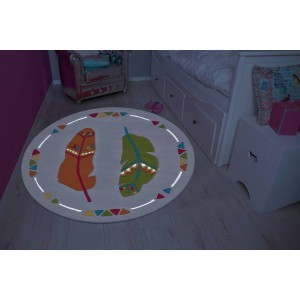 Children's Carpet Spirit Glowy 3143 Multi Monster Ø 130cm