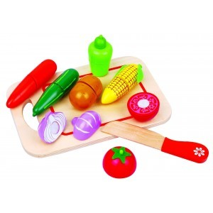 Wooden Cutting Veg with Chopping Board