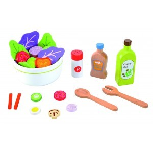 Wooden Salad and Dressing Set