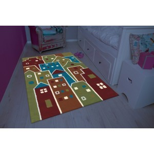 Children's Carpet Multi Houses (110 x 160cm)