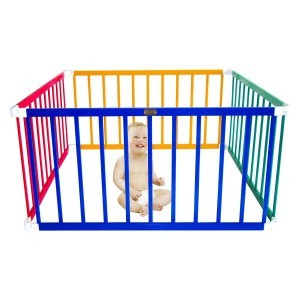 Little Boss Square Playpen - Coloured - Liberty House Toys (LBPP01C)