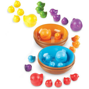 Learning Resources Birds In A Nest Sorting Set, Fine Motor Set, 36 Pieces