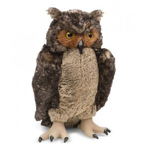 Lifelike Plush Owl - Melissa & Doug (18264)
