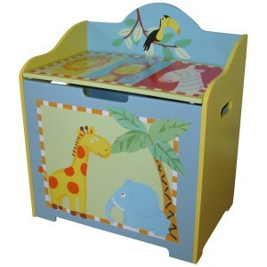 Safari Animals Toy Box - Liberty House Toys (LHT10030-A)