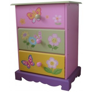 Butterfly Garden 3 Drawer Storage - Liberty House Toys (LHT10060)