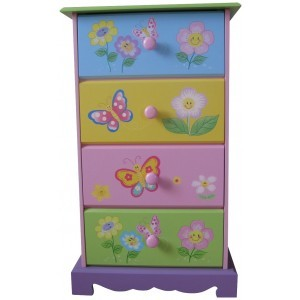 Butterfly Garden 4 Drawer Storage - Liberty House Toys (LHT10062)