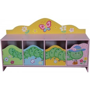 Butterfly Garden 4 Door Cabinet - Liberty House Toys (LHT10064)