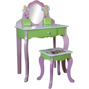 Butterfly Dressing Table With Stool - Liberty House Toys (LHT10090)