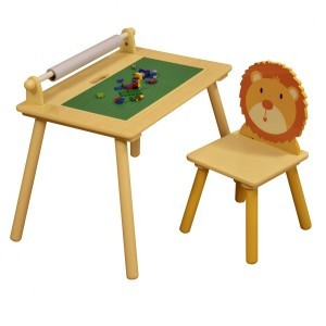 Jungle Writing Table and Chair with Lego Board - Liberty House (Liberty-5)