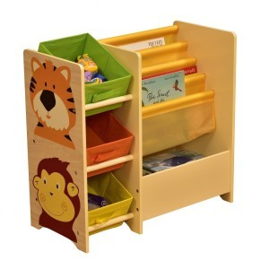 Jungle Magazine Shelf with 3 Non-woven Bins - Liberty House (Liberty-7)