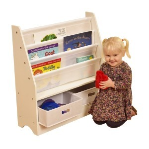 Tikktokk Toy Storage Unit with Two Bins White - Liberty House (Liberty-8)
