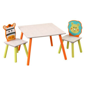 Lion and Zebra Safari Table and Chairs