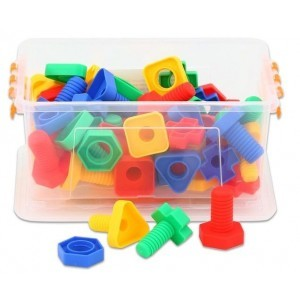 128 Piece Nuts and Bolts Pairing Kit - Sensory Education (M33-BJE106)