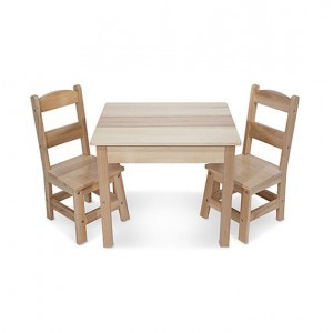 Solid wooden table with two chairs - Melissa & Doug (12427)
